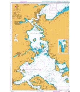 British Admiralty Nautical Chart 2592 Lillebaelt - Northern Part