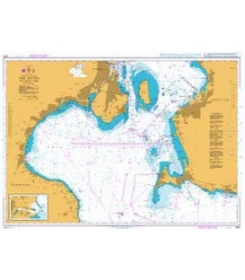 British Admiralty Nautical Chart 2595 The Sound - Southern Part