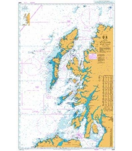 British Admiralty Nautical Chart 2635 Scotland West Coast