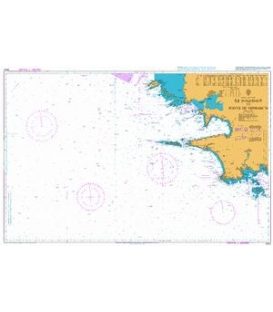 British Admiralty Nautical Chart 2643 Ile d'Ouessant to Pointe de Penmarc'h