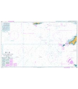 British Admiralty Nautical Chart 2649 Western Approaches to the English Channel