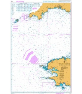 British Admiralty Nautical Chart 2655 English Channel Western Entrance