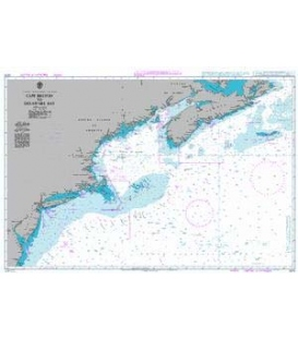 British Admiralty Nautical Chart 2670 Cape Breton to Delaware Bay