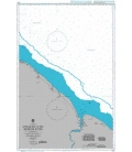 British Admiralty Nautical Chart 2687 Approaches to the Berbice River