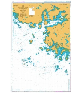 British Admiralty Nautical Chart 2709 Roundstone and Approaches