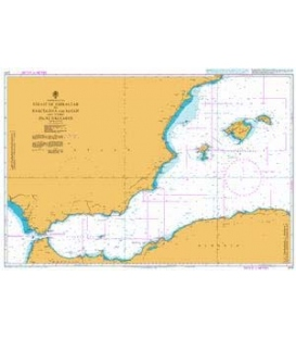 Strait of Gibraltar to Barcelona and Alger including Islas Baleares