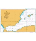 British Admiralty Nautical Chart 2717 Strait of Gibraltar to Barcelona and Alger including Islas Baleares