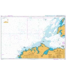 British Admiralty Nautical Chart 2723 Western Approaches to the North Channel