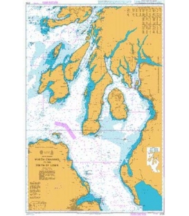 British Admiralty Nautical Chart 2724 North Channel to the Firth of Lorn