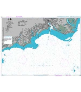 British Admiralty Nautical Chart 2726 Bridgeport and Approaches