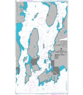 British Admiralty Nautical Chart 2730 Narragansett Bay including Newport Harbor