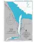 British Admiralty Nautical Chart 2784 Entrance to the Berbice River including New Amsterdam Harbour