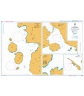 British Admiralty Nautical Chart 2786 Plans on Halmahera and Adjacent Islands