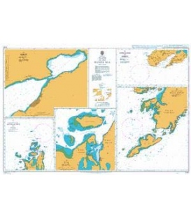 British Admiralty Nautical Chart 2791 Plans in the Banda Sea