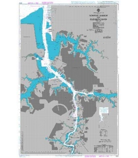 British Admiralty Nautical Chart 2814 Norfolk Harbor and Elizabeth River