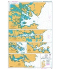 British Admiralty Nautical Chart 2825 Lochs on the East Coast of Uist