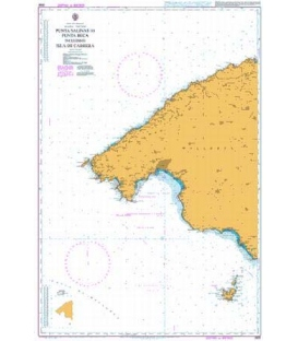 British Admiralty Nautical Chart 2832 Punta Salinas to Punta Beca including Isla de Cabrera