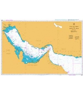 British Admiralty Nautical Chart 2858 Gulf of Oman to Shatt al `Arab
