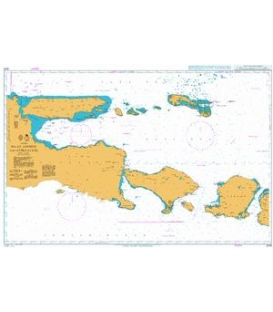 Britsh Admiralty Nautical Chart 2876 Selat Lombok and Approaches