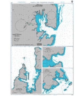 British Admiralty Nautical Chart 2914 Plans in the Philippine Islands