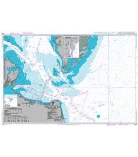 British Admiralty Nautical Chart 2919 Chesapeake Bay Entrance