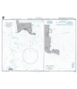British Admiralty Nautical Chart 2993 Plans in Christmas Island