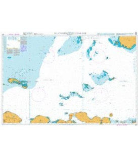 British Admiralty Nautical Chart 3011 Selat Lombok to Selat Makasar