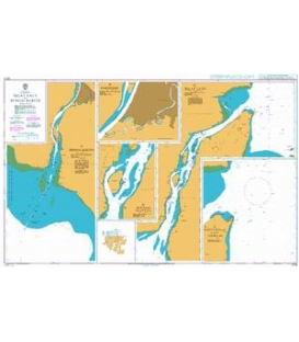 British Admiralty Nautical Chart 3015 Selat Laut and Sungai Barito