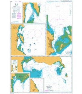 British Admiralty Nautical Chart 3043 Ports on the Coast of Egypt