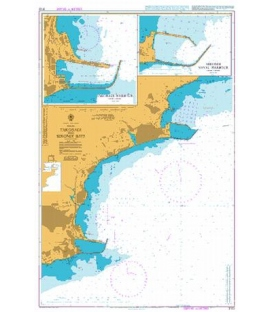 British Admiralty Nautical Chart 3102 Takoradi and Sekondi Bays
