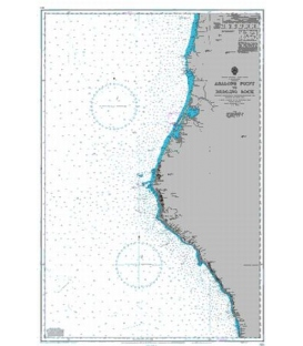 British Admiralty Nautical Chart 3121 Abalone Point to Redding Rock