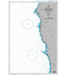 British Admiralty Nautical Chart 3122 Redding Rock to Cape Blanco