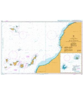 British Admiralty Nautical Chart 3133 Casablanca to Islas Canarias (Including Arquipelago da Madeira)