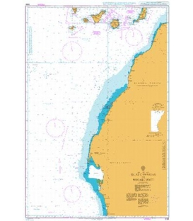 British Admiralty Nautical Chart 3134 Islas Canarias to Nouakchott