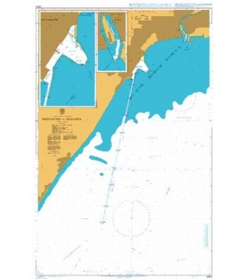 British Admiralty Nautical Chart 3303 Approaches to Mariupol'