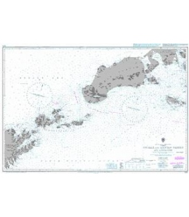 British Admiralty Nautical Chart 3336 Unimak and Aleutian Passes and Approaches