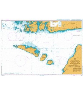 British Admiralty Nautical Chart 3339 Approaches to Galway Bay including the Aran Islands