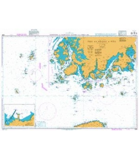 British Admiralty Nautical Chart 3365 Komundo to Taehuksan Kundo and Cheju-Do
