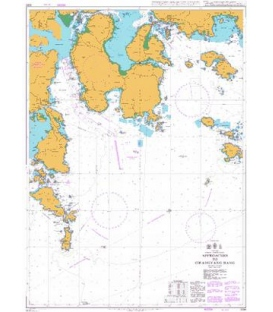 British Admiralty Nautical Chart 3391 Approaches to Gwangyang Hang