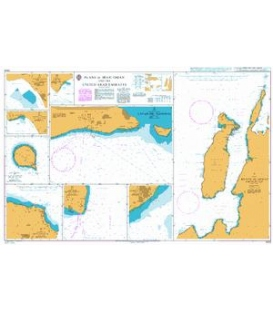British Admiralty Nautical Chart 3409 Plans in Iran, Oman and the United Arab Emirates