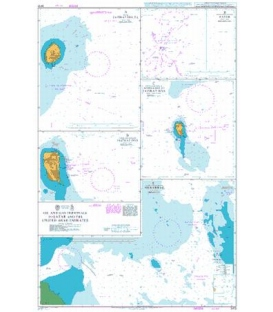 British Admiralty Nautical Chart 3413 Oil and Gas Terminals in Qatar and the United Arab Emirates