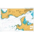 British Admiralty Nautical Chart 3427 Approaches to Brest