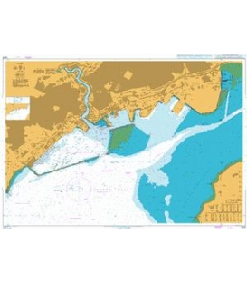 British Admiralty Nautical Chart 3428 Brest