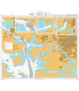 British Admiralty Nautical Chart 3439 Outer Approaches to Turku