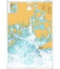 British Admiralty Nautical Chart 3443 Approaches to Hanko