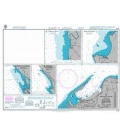 British Admiralty Nautical Chart 3448 Plans in Angola