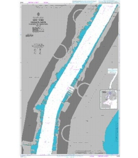 British Admiralty Nautical Chart 3454 New York - Hudson River Hoboken to Edgewater