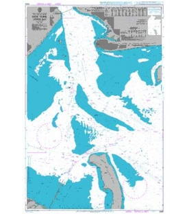 British Admiralty Nautical Chart 3459 New York Lower Bay