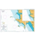 British Admiralty Nautical Chart 3464 Ports and Anchorages on the West Coast of India