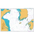 British Admiralty Nautical Chart 3480 Yellow Sea and Korea Strait